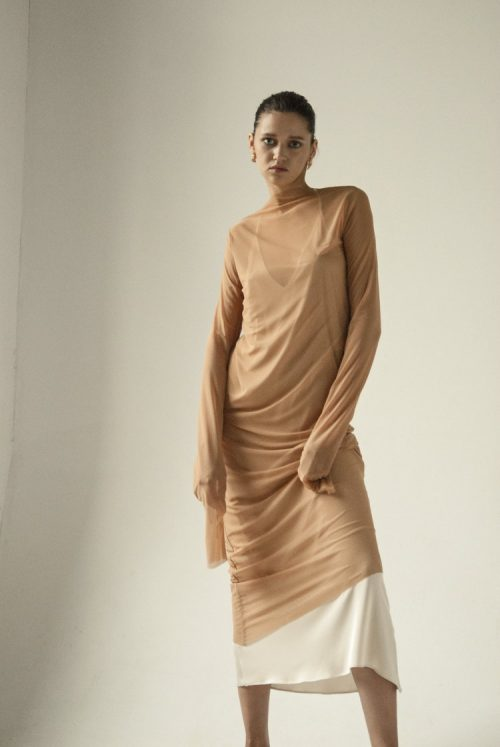 km-by-lange-nude-endless-sleeves-liquid-dress1